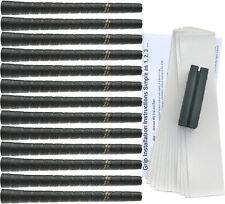 Tacki-Mac Tour Pro Standard Black Golf Grip Kit (13 Grips, Tape, Clamp)