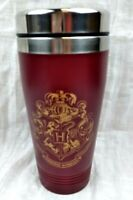 Harry Potter Insulated Tin Mug Cup Tumbler Hogwarts Crest Maroon Gold With Lid