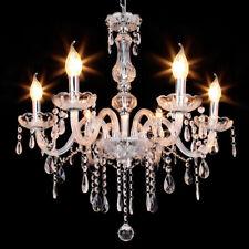 25W Samger Crystal Candle Decoration Transparen Chandelier Ceiling Light 6 Lamp