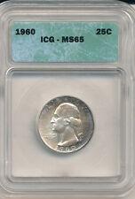 1960 Quarter ICG  65 Toned