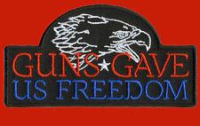 Guns Gave us Freedom 2ND AMENDMENT SCREAM EAGLE PATCH