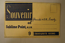 Sublime Point - N.S.W. - Vintage - Collectable - 9 Picture Sheet Folding Card.
