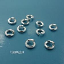 10 Heavy Duty Sterling Silver 6mm Open Jump Ring Connector 15 Gauge 1.4mm #33462