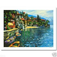 """BEHRENS """"WARMTH OF VARENNA"""" NEW ARTIST HAND EMBELLISHED AP GICLEE WITH COA"""