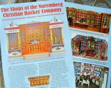 10p History Article - Antique 1870 Christian Hacker Miniature Doll House Shops