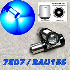 Rear Turn Signal Light 7507 BAU15S PY21W 108 SMD LED Bulbs Blue W1 JAE
