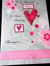 To my Wonderful Wife on your Birthday, Card by Poetry In Motion Cards.