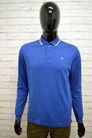 Polo CHAMPION Uomo Taglia Size M Maglia Maglietta Camicia Shirt Man Blu Cotone