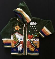Child's Arpillera Handmade Peruvian Sweater From Peru