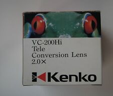 Kenko VC-200Hi 2.0x Video Tele Conversion Lens with adapter ring 49mm/52mm/55mm