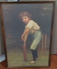 """Vintage Early Pears Soap Advertising Art Titled """"Captain of The Eleven"""" Cricket"""