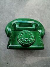 Ancienne tire lire téléphone en céramique St Clément
