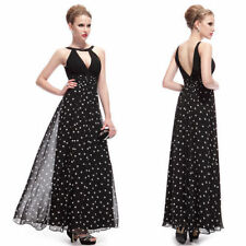 Polka Dot Regular Size Chiffon Maxi Dresses for Women