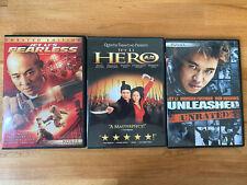 Unleashed Hero Fearless Dvd Jet Li Bundle Like New Free Shipping Karate Unrated