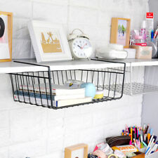 1xUnder Shelf Kitchen Bathroom Storage Basket Caddy Large Small Organizer Rack
