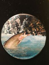 New Nature River Fly Fishing Resin Coaster Paperweight Party Gift 5� Rainbow