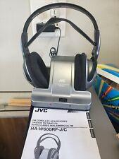 JVC 900MHz Wireless FM Cordless Headphones Call Function HA-W600-R/F