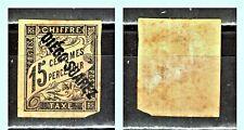 """DIEGO SUAREZ: 1892 Sc: FR-DS-J9 """"Postage Due OVP DIEGO SUAREZ"""" 15c MH No Gum"""