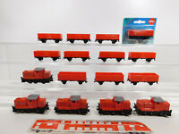 CN136-2# 16x Siku Modell: Diesellok (aus Set 1653 ?) + 1072 Güterwagen, TOP