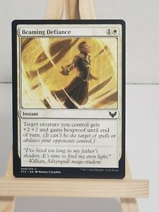 MTG * Strixhaven * School of Mages * Beaming Defiance * Common * 1st Edition