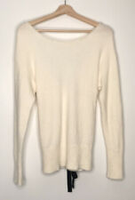 Victoria Secret Soft Cream Wool Blend Lace Up Back Corset Sweater Size Medium