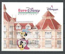 Walt Disney, Minnie, Eurodisney - Malediven - Bl.268 ** MNH 1992