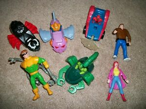 7 SPIDERMAN CARS & TOYS MCDONALD HAPPY MEAL TOYS