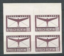 Argentina Proof Air #28 Block x 4 Colour Not Approved