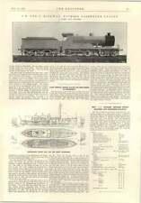 1914 Thornycroft MOTOSCAFO GOVERNO Greco Nuovo Motore EXPRESS Ferrovia Chatham