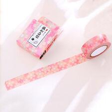 1 pièce 10 mètre rouleau de washi tape diy Fleur rose