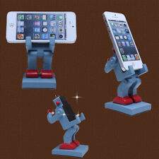 Cute Funny Robot Style Cell Phone Stand Desktop for iPhone Holder Tablet Mount