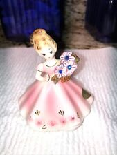 "Vintage September Sapphire by ""Josef Originals� Girl w Flowers Figurine-Japan"