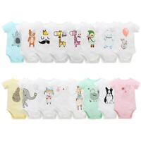 Newborn Infant Unisex Baby Cartoon Print Bodysuit Jumpsuit Outfit Romper Clothes