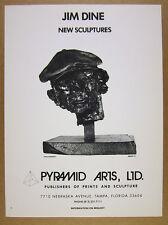 1976 Jim Dine 'Kitaj's Portrait' sculpture photo Pyramid Arts vintage print Ad
