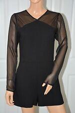 BCBGeneration Black Rayon blend Long Sleeves jumpsuit sz S