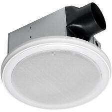 Home Netwerks Decorative White 90 CFM Bluetooth Stereo Speaker Bath Fan