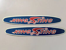 King Sting original NOS downtube decals Schwinn BMX DriMark stickers