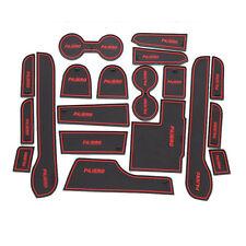 Interior Non-slip Door Groove Cup Holder Rubber Mat For Mitsubishi Pajero Sport