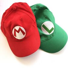 Mario And Luigi Set Of Hats Super Mario Adjustable Baseball Hat Cap