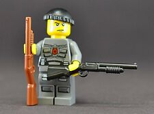 Brickarms SABR Pump Action Shotgun for Lego Minifigures (5 Pack) Black