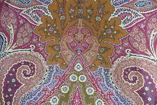 Schumacher Curtain Fabric Cambay Paisley Print 3.8m Sandalwood - Linen Design