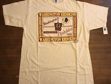 Washington Redskins Vintage T Shirt Made In Usa Xl Embroidered Sewn 80-90's Nwt