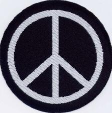 Peace Anti-War CND  Badge Patch Motif 50mm Diameter IRON ON