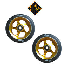 1 pair pro scooter wheels metal core gold cyclone 110mm 88a abec 11 bearings