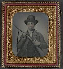 Photo Civil War Confederate 10th Virginia Infantry Regiment Uniform With Shotgun
