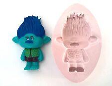Stampo in silicone Troll Branch Compleanno glassa Torta Cupcake Fimo