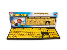 EZ Eyes Large Print Computer Keyboard 4X Bigger Letters As Seen On TV Mac/PC