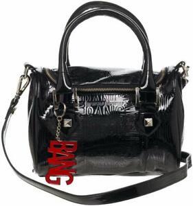 DC Comics Harley Quinn  BANG Black Mini Satchel Handbag With Charm