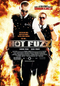 Hot Fuzz Movie Poster Available in A2(420mmx297mm) & A1(594mm X 841mm)