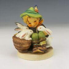 Vintage Goebel Hummel Figure - Playmates - Boy With Rabbits Figure - Lovely!